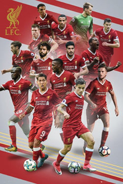 Liverpool FC 14-Players In Action Official EPL Soccer Football Poster - GB Eye 2017/18