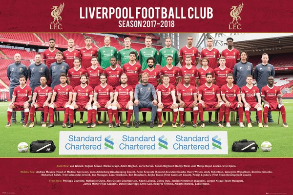 Liverpool FC 2017/2018 Official Team Portrait Poster - GB Eye (UK)