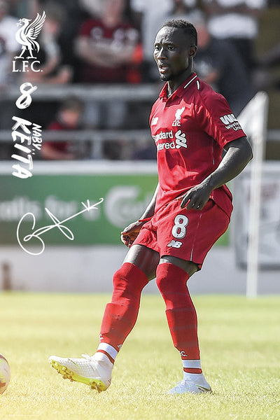 "Naby Keita ""Superstar"" Signature Series Liverpool FC Official EPL Soccer Poster - GB Eye 2018/19"