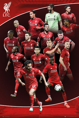 Liverpool FC 15-Players In Action Official EPL Soccer Football Poster - GB Eye 2018/19