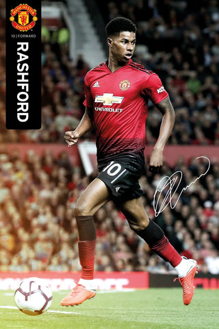 "Marcus Rashford ""Superstar"" Manchester United FC Signature Series Poster - GB Eye 2018/19"