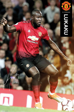 "Romelu Lukaku ""Superstar"" Manchester United FC Signature Series Official EPL Poster - GB Eye 2018/19"