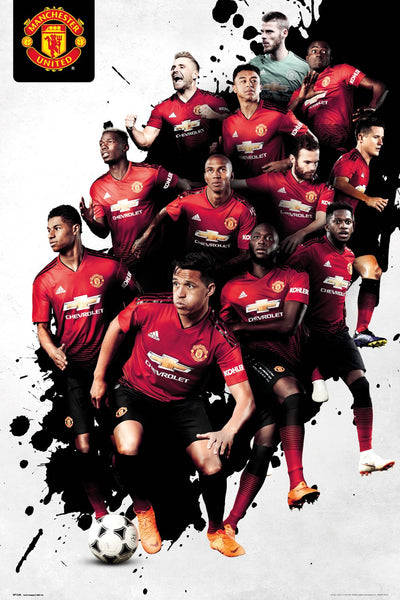 "Manchester United ""Big Twelve"" EPL Soccer Action Poster - GB Eye (UK) 2019"