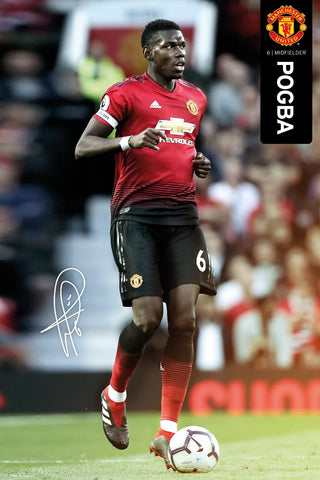 "Paul Pogba ""Visionary"" Manchester United FC Signature Series Official EPL Poster - GB Eye 2018/19"