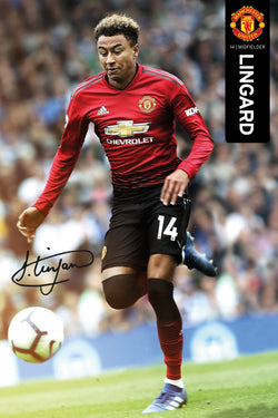 "Jesse Lingard ""Signature Series"" Manchester United Official EPL Soccer Football Poster - GB Eye 2018/19"