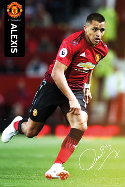 "Alexis Sanchez ""Signature Series"" Manchester United Official EPL Soccer Football Poster - GB Eye 2018/19"