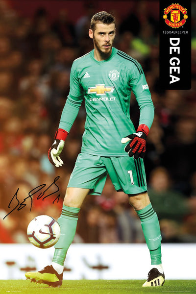 David De Gea Manchester United FC Goalkeeper Signature Series Official EPL Poster - GB Eye 2018/19