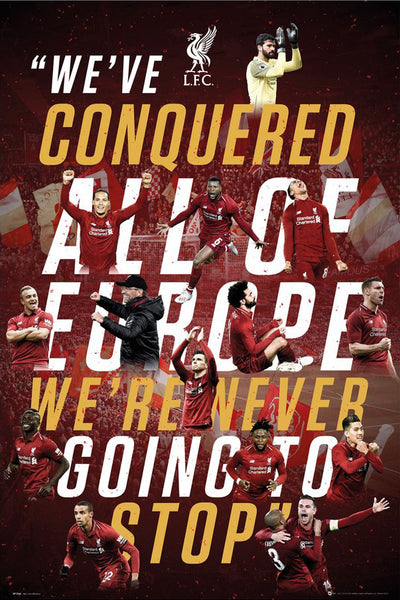 Liverpool FC 2019 UEFA Champions League Champions Official Commemorative Football Poster - GB Eye 2019