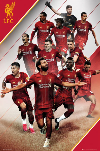 Liverpool FC 11-Players In Action Official EPL Soccer Football Poster - GB Eye 2019/20