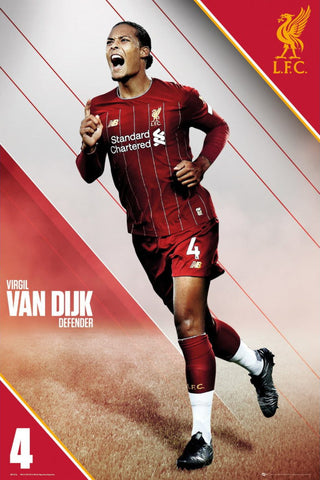"Virgil Van Dijk ""Superstar"" Action Series Liverpool FC Official EPL Soccer Poster - GB Eye"