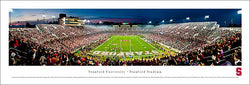 Stanford Cardinal Football Stanford Stadium Game Night Panoramic Poster - Blakeway Worldwide
