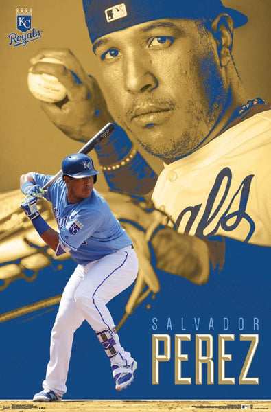 "Salvador Perez ""Royalty"" Kansas City Royals Baseball Action Wall Poster - Trends International"