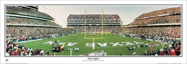 Texas Aggies Football Kyle Field Gameday Panoramic Poster Print - Everlasting Images