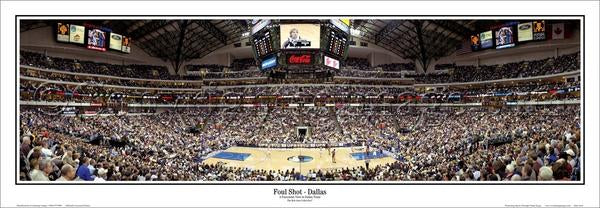 "Dallas Mavericks ""Foul Shot"" Game Night Panoramic Poster Print - Everlasting Images"
