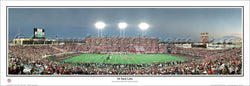"Texas Tech Football ""34 Yard Line"" Jones Stadium Panoramic Poster Print - Everlasting Images"