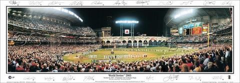 Houston Astros World Series 2005 Panoramic Poster Print (w/19 Facs. Signatures) - Everlasting