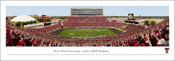 Texas Tech Football AT&T Stadium Gameday Panoramic Poster Print (2008) - Blakeway Worldwide