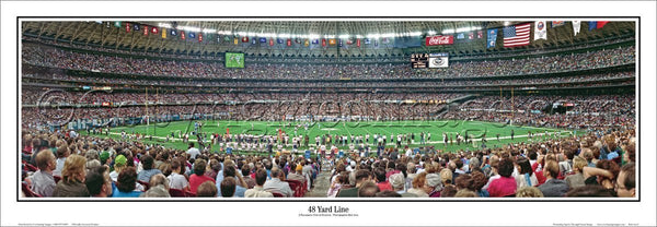 "Houston Oilers ""48 Yard Line"" Houston Astrodome Panoramic Poster Print - Everlasting Images 1992"