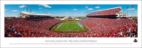 Louisville Cardinals Football Gameday Panoramic Poster Print - Blakeway 2010