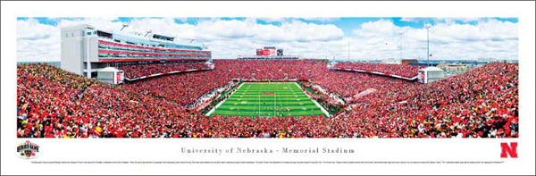 "Nebraska Cornhuskers Football ""Heroes Game"" Panoramic Poster Print - Blakeway 2011"