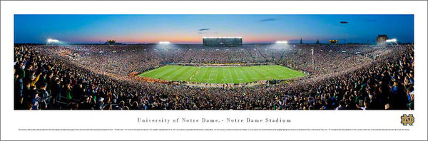 "Notre Dame Football ""Shillelagh Game Night"" Panoramic Poster Print - Blakeway 2011"
