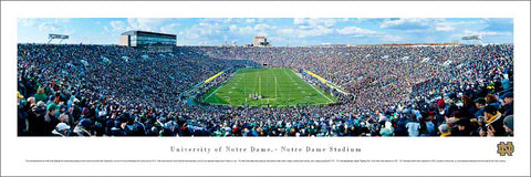 "Notre Dame Football ""End Zone"" Gameday Panoramic Poster Print - Blakeway Worldwide"