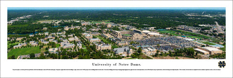 University of Notre Dame Aerial Campus View Panoramic Poster Print - Blakeway 2017