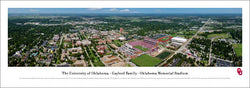 Oklahoma Sooners Football Memorial Stadium Gameday Aerial Panoramic Poster - Blakeway