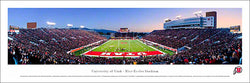 "Utah Utes Football ""End Zone"" Game Night Panoramic Poster - Blakeway 2011"