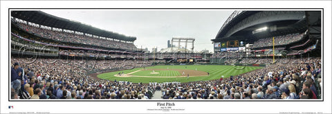 Seattle Mariners Safeco Field First Pitch (1999) Panoramic Poster Print - Everlasting Images Inc.