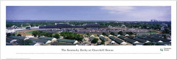 Churchill Downs Kentucky Derby Panoramic Poster Print - Blakeway Worldwide