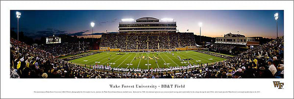 Wake Forest Football BB&T Field Panoramic Poster Print - Blakeway Worldwide