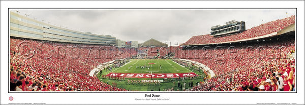 "Wisconsin Badgers Camp Randall Stadium ""End Zone"" Premium Panoramic Poster Print - Everlasting Images"