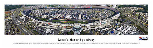 Lowe's Motor Speedway (Charlotte) NASCAR Race Day Aerial Panoramic Poster Print - Blakeway 2006