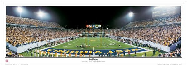 "West Virginia Mountaineers Foorball ""End Zone"" Premium Poster Print - Everlasting Images"