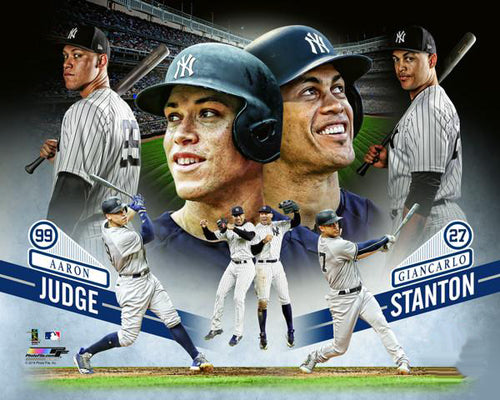 "Aaron Judge and Giancarlo Stanton ""Bomber Brothers"" New York Yankees Premium Poster Print - Photofile 16x20"