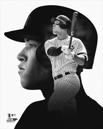 "Aaron Judge ""Pro File"" New York Yankees Premium Black-and-White Classic Poster Print - Photofile Inc."