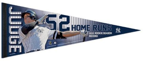 Aaron Judge Rookie Record 52 Home Runs New York Yankees Premium Felt Commemorative Pennant - Wincraft