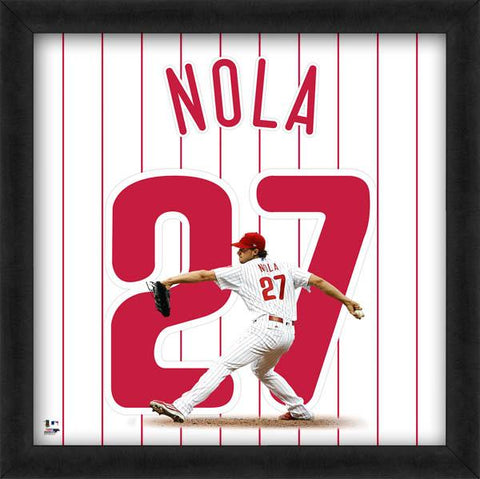 "Aaron Nola ""Number 27"" Philadelphia Phillies MLB FRAMED 20x20 UNIFRAME PRINT - Photofile"