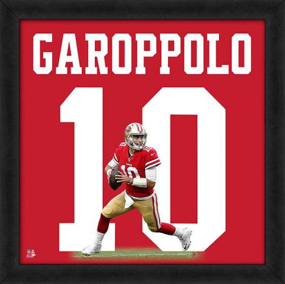"Jimmy Garoppolo ""Number 10"" San Francisco 49ers NFL FRAMED 20x20 UNIFRAME PRINT - Photofile"