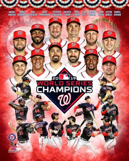 Washington Nationals 2019 World Series Champions 12-Stars Premium Poster Print - Photofile Inc.