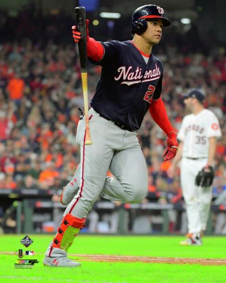 "Juan Soto ""World Series Blast"" (2019 Game 6) Washington Nationals Premium Poster Print - Photofile 16x20"