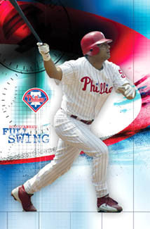 "Bobby Abreu ""Full Swing"" Philadelphia Phillies Poster - Costacos 2006"