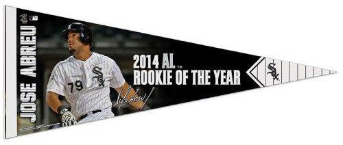Jose Abreu 2014 A.L. Rookie of the Year Chicago White Sox Premium Felt Collector's Pennant