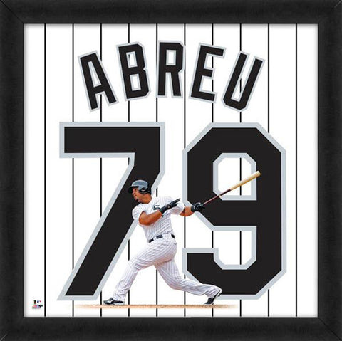 "Jose Abreu ""Number 79"" Chicago White Sox FRAMED 20x20 UNIFRAME PRINT - Photofile"