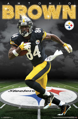 "Antonio Brown ""Superstar"" Pittsburgh Steelers Official NFL Football Action Poster - Trends 2017"