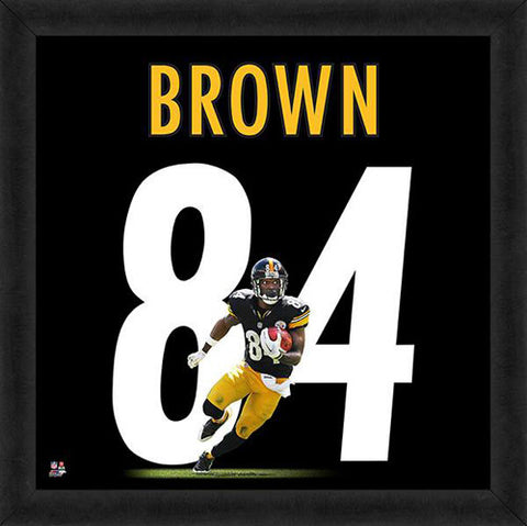 "Antonio Brown ""Number 84"" Pittsburgh Steelers FRAMED 20x20 UNIFRAME PRINT - Photofile"