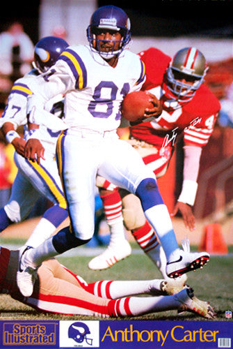 "Anthony Carter ""Vikings Action"" (1988) Sports Illustrated Poster - Marketcom Inc."