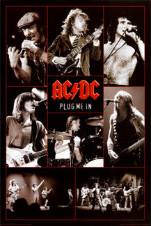 "AC/DC ""Plug Me In"" Poster - Aquarius 2008"