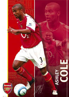 "Ashley Cole ""Signature"" Arsenal FC Action Poster - GB 2004"